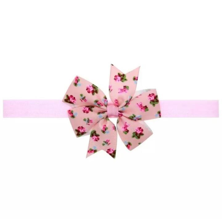 diadema rosa con florecitas mod.14