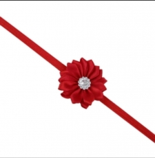 diadema con flor roja mod. 6