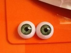par de ojos acrilicos verde 03a 18mm