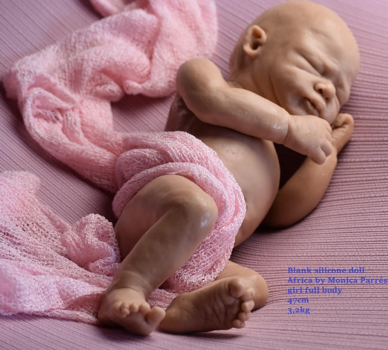 kit silcona para reborn africa full body by monica parres (en blanco sin pintar!!!)