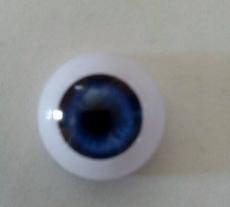 par de ojos acrilicos cobalto premium 20mm