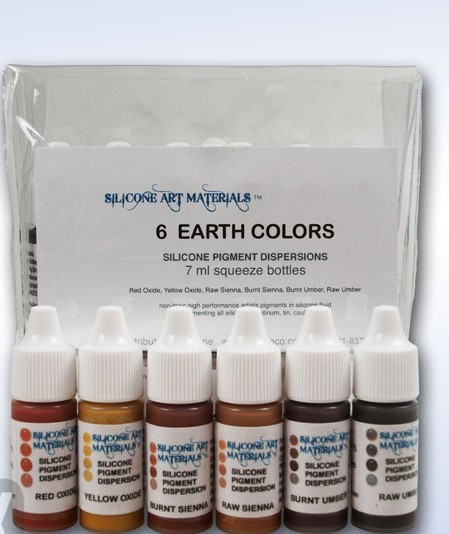 7ml EARTH COLORS 6 color set