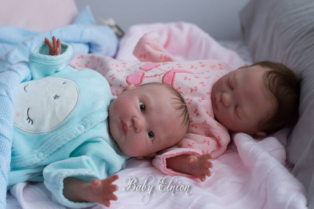 Kit para reborn Gemelas Marta y Eva by Melody Hess