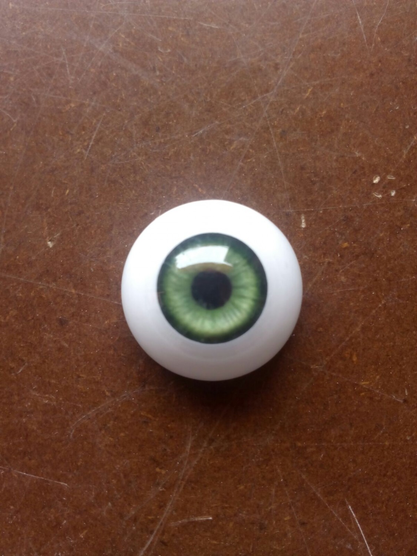 Par de ojos acrílicos premium verde 20mm