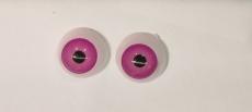 par de ojos acrilicos rosas de 12mm