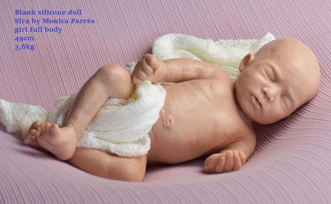 kit silcona para reborn Sira full body by monica parres (en blanco sin pintar!!!)