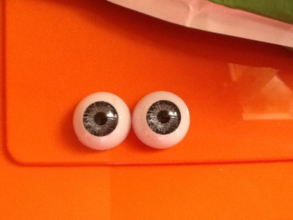 par de ojos acrilicos gris b04 18mm