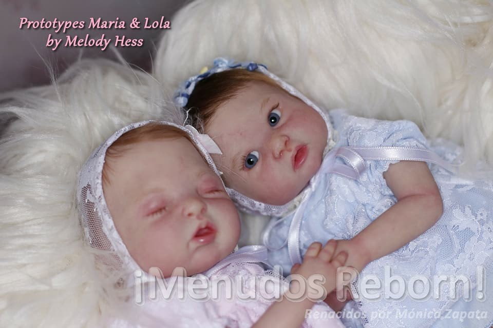kit para reborn Gemelas maria y lola by melody hess